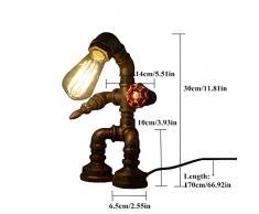 KAGU CULTURE robot loft lampe industrielle tuyau bureau Lampe de table pour les bureaux Bar Cafétéria