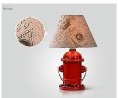 swent Loft Lampe de table créative Rouge Lampe de table américain industrielle Vent Lampe de table Lampe de table Fire Hydrant Chambre étude chambre lampe de chevet E27 * 1 LED 3 W