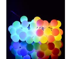 Guirlande Lumineuse Solaire, Tomshine 50 Petites Boule LED, 8 Modes Eclairage, Étanche IP44, 6.9M Fil Souple, Décoration Intérieur et Extérieur (Multicolore)