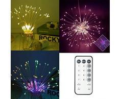Gledto Guirlande Lumineuse Lampe Pendentif Boule Explosé Solaires Lumières 300 LED avec Télécommande pour Jardin Maison Chambre Mariage Halloween Noël Eclairage de Fée RGB