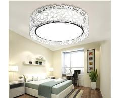 CHJK BRIHT Retro American Village petit plafond lumineux pour le séjour la chambre la cuisine de l'hôtel bureau chambre d'enfant Lustre Plafonniers Création lumière LED 370mm 115mm, blanc