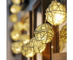 83inch Guirlande Lumineuse 20-LED à Piles Forme de Boule Lampe Décoration