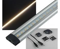 """'Réglette LED """"CT-FL30 30 cm, 240lm, 3 W, 3000 K/Blanc Chaud"""
