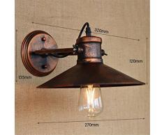 bJVB Corridor de moderne Vintage Industrial Metal Rouille rustique lumière Retro mural Lampe murale Applique lampes & tonalit ¨ ¤ de lampe de chevet