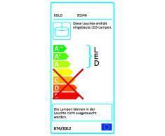 Eglo Lampe suspension LED Aggius en acier et verre à hauteur réglable munie de 4 LED 6 W Chromé/transparent satiné 87 x 110 cm
