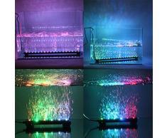 Kit d'éclairage LED pour aquarium avec bulles, Underwater Air Rideau lumineux pour Fish Tank, Changement de couleur lampe souple avec ventouse