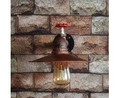 kinine Decor industriel Edison simplicité Mini verre Appliques Appliques Applique Vintage rustique de forme extérieure lampe lumière 005 lampes mural