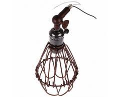 rétro vintage, vintage cage mur chandelier, cage lampe murale industrielle moderne, edison, lampe rustique cage, paroi de cuivre lumières avec e27 pac type
