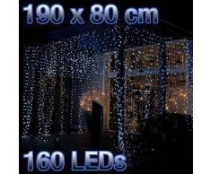 Lex Rideau lumineux à 160 LED blanches