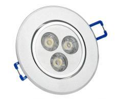 9×Auralum® 3W 270LM LED Plafond Rond Encastré Lampe Spot 3000K Blanc Chaud