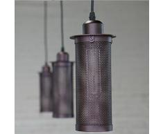 Rétro industrielle Chandelier Montage Pendant Lamp Shade restaurant Décor Abat-jour (E27 Vissez la base de la lampe, JUSTE Abat-jour, à l'exclusion Ampoules)