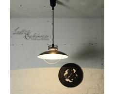 Moderne Suspensions en noire incl. 1x 12W E27 LED 230V Luminaire suspendu en métal réglable en hauteur Lampe suspendue pour Salle À Manger Cuisine Suspension Suspension/plafonnier éclairage