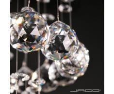Lustre plafonnier en cristal - design élégant - hauteur 50 cm - diamètre 25 cm