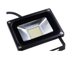 10X Projecteur led 20W led floodlight 220V Blanc Chaud 1200lm IP65 usage en intérieur et extérieur