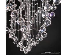 Lustre plafonnier - A++ à E - lampe en cristal - hauteur 70 cm - diamètre 50 cm