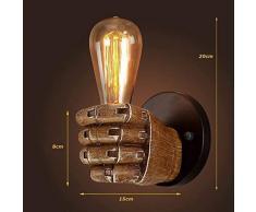 Rétro Industriel Rustique Luminaire Applique Murale en Corde Éclairage Vintage Edison Lampe Douille E27 pour pour Décoration de Maison Bar Restaurants Café Club (110-220V, ampoule non compris)