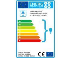 QAZQA Rustique Applique Murale Pixa gris Metal Rond Compatible pour LED E14 Max. 1 x 25 Watt / Luminaire / Lumiere / Éclairage / intérieur / Chambre á coucher / Cuisine