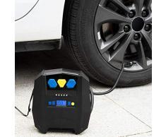 Sddlng Pompe à air électrique - Gonfleur de Pneu à Affichage numérique Haute Pression avec Outil Professionnel Gonflable pour Lampe de Pompe à air 12V / USB