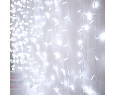 Rideau Lumineux 4m x 3m avec 576 LED Blanches pour Intérieur ou Extérieur, Type CC par Lights4fun