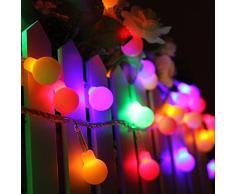 [Télécommande et minuterie]Guirlande Lumineuses Boules, KINGCOO 8 Modes 5Mètres 50LED Alimenté par batterie Guirlande lumineuse boule de noël couleur changeante LED pour arbre de Noël, fête, mariage