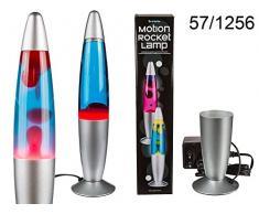 OOTB 57/1256 Lampe Fusée Mouvante, Plastique, 0.0001 W, Rouge/Bleu, 9.4 x 9.3000000000000007 x 45.5 cm