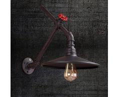 Rétro Lampe Industrielle Salon Chambre Couloir Café Loft Bar Tuyau Mur Lampe