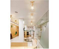 Plafonnier Rétro Industrielle en Métal,DIY Lustre Fer Doré Boules 360°Régble Lampe Suspension Luminaire, Diamètre 32cm (Ampoule Non incluse)