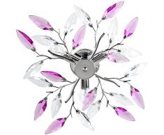 Plafonnier - A++ à E - au design feuillage - lumière agréable de 3 x 40 W