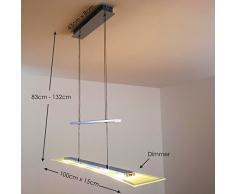 Hauteur réglable LED à intensité variable Suspension Parme 16 W 1280 lm 3000 K Blanc Chaud avec variateur tactile à la lampe