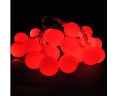 Lightsgo® Alimenté par batterie Boule de Berry Intérieur Guirlande lumineuse LED 20leds 2 m 20LED 2M Red