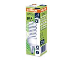 Osram 509062 Ampoule à économie dénergie Duluxstar Nano Twist 9W/840 en spirale (correspond à une ampoule de 45W) 220-240 V, culot E14 Blanc froid 30 mm