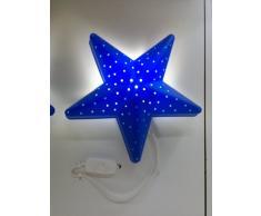 IKEA POUR CHAMBRE D'ENFANT MOTIF ÉTOILE BLEU LAMPE/APPLIQUE