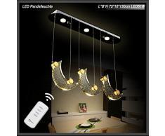Suspension LED 1668 Lune Cristaux Télécommande couleur de la lumière réglable A + 51.00 wattsW
