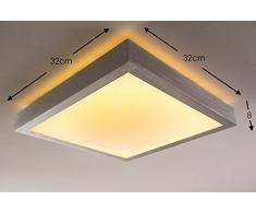 Plafonnier carré LED pour salle de bain ou bureau - 1380 Lumen - 3000 Kelvin - IP 44