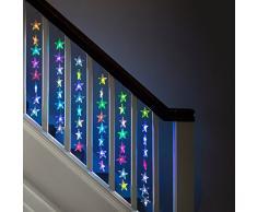 Rideau Lumineux Intérieur de 64 Etoiles LED de Couleur Changeante par Lights4fun