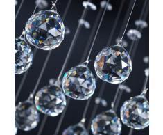 Plafonnier - A++ à E - lustre - lampe en cristal - design élégant - hauteur 40 cm - 40x40x40 cm