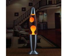 Ballylelly Lampe de lave à base de métal mignon Cire style de volcan de nuit veilleuse méduse Veilleuse Éblouissement Incandescent Lava Lampes déclairage