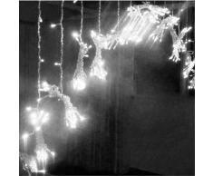 iDream – 1000 LEDs Guirlande Rideau lumineux 10m * 3m de 8 modes differents – pour la decoration intérieur / extérieur comme hotel marriage cérémonie soirée fête etc. - IP44, pour utilisation intérieur seulement (Blanc)