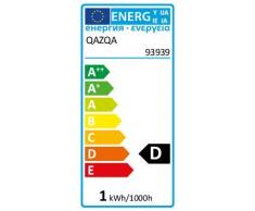 QAZQA Rustique Plafonnier Bri L gris foncé Aluminium/Verre/Rond Compatible pour LED E27 Max. 1 x 100 Watt/Extérieur/Salle de bain/Jardin/Luminaire/Lumiere/Éclairage/Salon