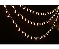 Uping Guirlande Lumineuse Boule LED 4,5m 50 Lampes Décoration Intérieur / Extérieur pour Noël Jardin Soirée et Cérémonie(Blanche chaude)