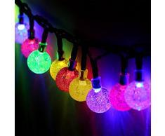 Globrite Globe Solaire Guirlande Lumineuse 30 LED boule de cristal Patio Guirlande lumineuse pour jardin extérieur – Multi couleur