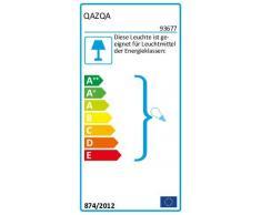 QAZQA Moderne Plafonnier Rotterdam noir Verre / Acier inoxydable / Rectangulaire Compatible pour LED E27 Max. 1 x 60 Watt / Extérieur / Jardin / Luminaire / Lumiere / Éclairage / Salon