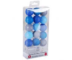 Promobo - Guirlande Boule Lumineuse 15 LED Déco Scandinave Diamètre 3,5cm Bleu