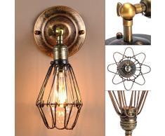 Kingso e27 lampe suspension abat jour cage en fer plafonnier