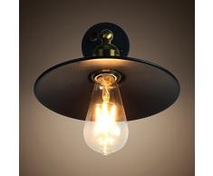 Lampe Applique Murale Métal Style Parapluie Rétro Industrielle Eclairage Suspension Luminaire E27