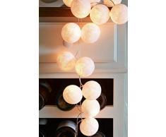 Chambre Lampe Veilleuse Boule de coton guirlande lumineuse led décoration lanterne petite ampoule-blanc pur veilleuse enfant Lampe de chevet idee cadeau ado fille