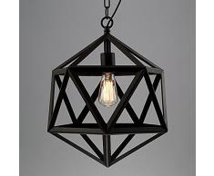 NIUYAO Lampe Suspension Lustre Style Vintage Cage en Métal Industriel Chandelier Hanging Light Réglable