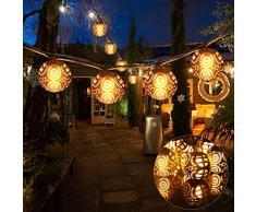IDESION Guirlande Lumineuse Boule de Flamme Lumière LED 8 Boules 7 Mètres 4 Modes avec Télécommande décoration pour Maison Cheminée Fenêtre Mariage Jardin Patio Noël