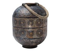 Kare Lampe 38217Â sol Sultan, 31Â cm, acier inoxydable, noir