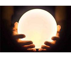 JIAWEI Veilleuse LED pour Enfants, Lampe De Décompression Créative 8 Lampe De Décompression Créative en Silicone Gonflable Portable Conversion De Niveau De Luminosité 4 Niveau étanche Ipx8.6,White